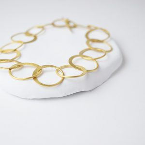 Gold Plated Brushed Chain Bracelet