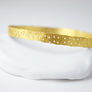 Gold Plated With Dots Bracelet
