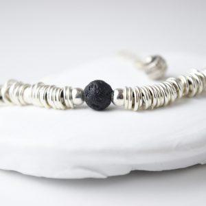 Sterling Silver Rings Lava Bracelet