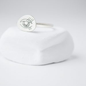Sterling Silver WIth Oval Eye Ring