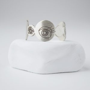 Sterling Silver Bubble Eyes Ring