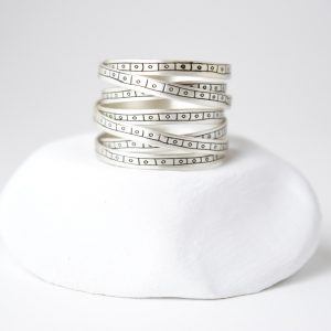 Sterling Silver Ethnic Motif 7 Loops Ring