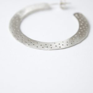 Sterling Silver With Dots Earring