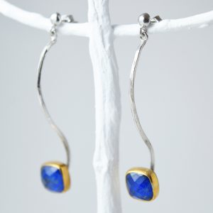 Sterling Silver Lapis Lazuli With Gold