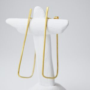 Sterling Silver Minimalist Ancient Trapeze Earrings