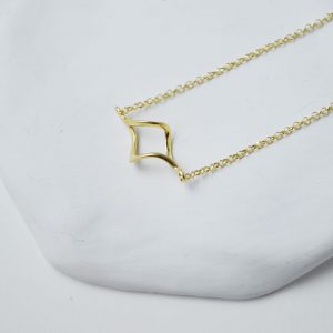 Sterling Silver Twisted Gold Plated Necklace