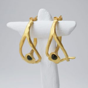Sterling Silver Two Piece Flower Gold Plated Earrings