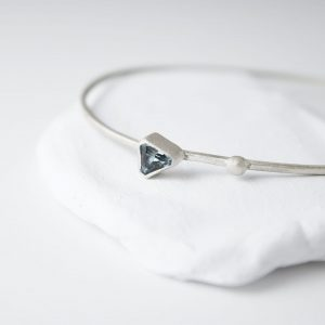 Sterling Silver Solitaire Topaz Bracelet