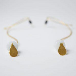 Gold Organic Flow Gem Earrings