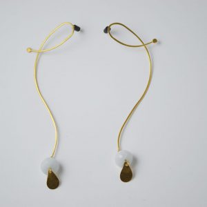 Gold Organic Flow Gem Earrings