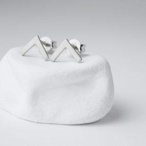Sterling Silver Minimalist Triangle Stud Earrings