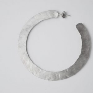 Brushed Hammered Large Earrings