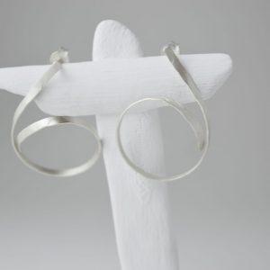 Sterling Silver Twirl Minimalist Earring