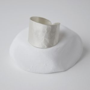 Sterling Silver Brushed Hammered Ring