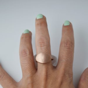 Sterling Silver Ancient Style Oval Rose Gold Plated Ring