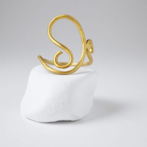 Sterling Silver Dancing Gold Plated Ring